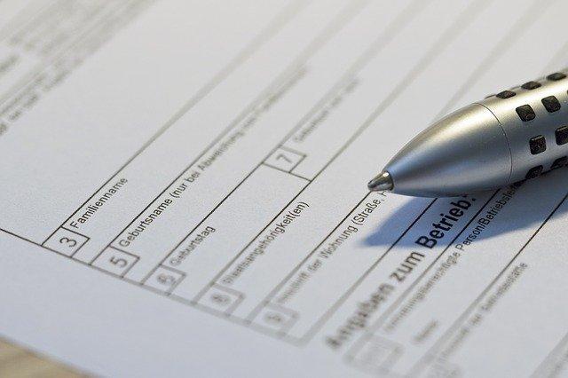propiska na formuláři