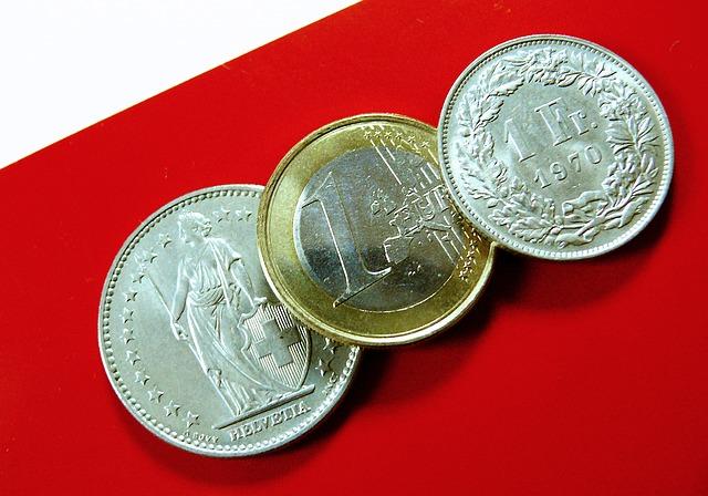 švýcarské franky a euro