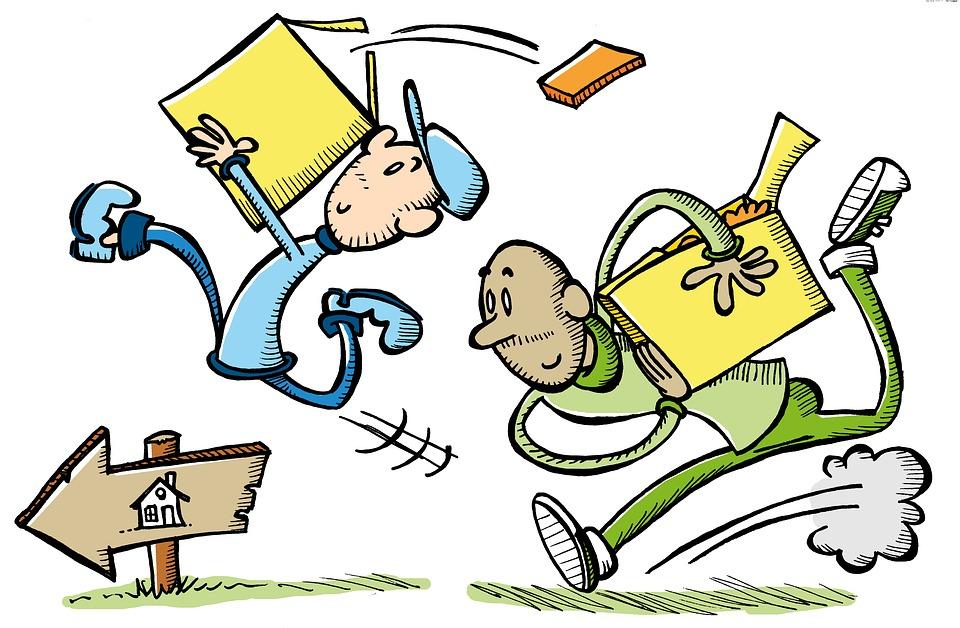 karikatura stěhování