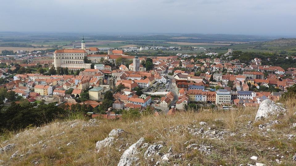 pohled na město Mikulov